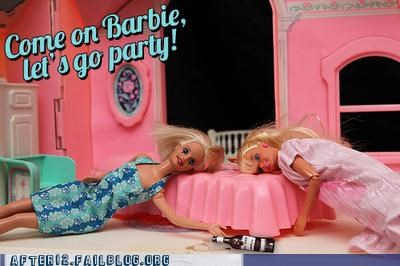 Barbie's Partied Out