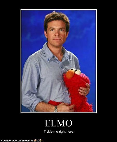 actor,celeb,demotivational,elmo,funny,jason bateman,Sesame Street