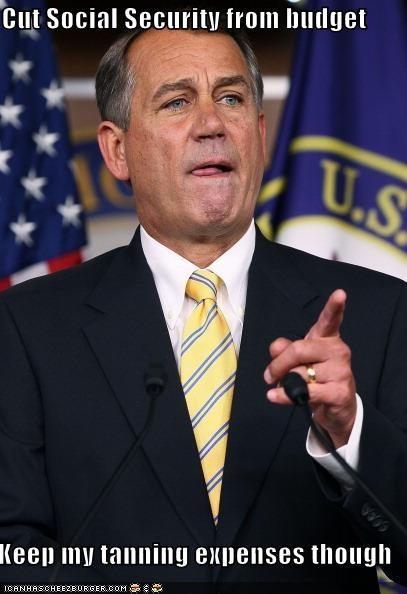 john boehner,political pictures,social security