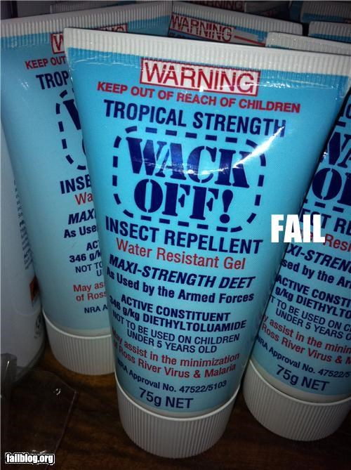 Insect Repellent FAIL