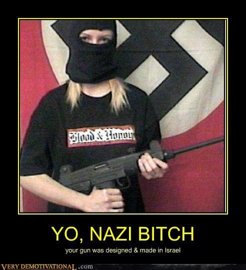 hilarious,idiot,isreal,nazi,uzi