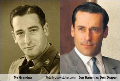 My Grandpa Totally Looks Like Jon Hamm as Don Draper