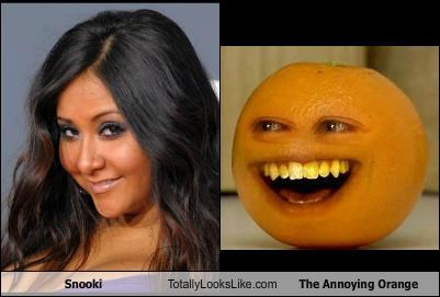 Snooki Totally Looks Like The Annoying Orange