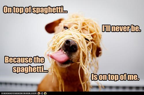 On top of spaghetti...