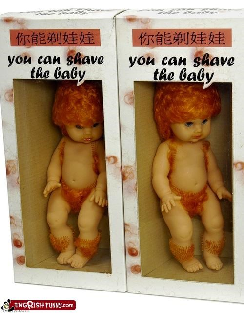 baby,creepy,doll,hair,Hall of Fame,knockoff,nightmare fuel,shave,toy