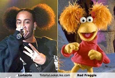 classics,fraggle rock,ludacris,musicians,pom poms,rapper,Red Fraggle