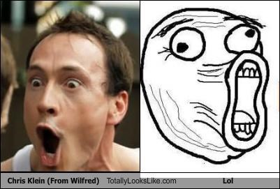"Chris Klein from ""Wilfred"" Totally Looks Like the Lol Face"