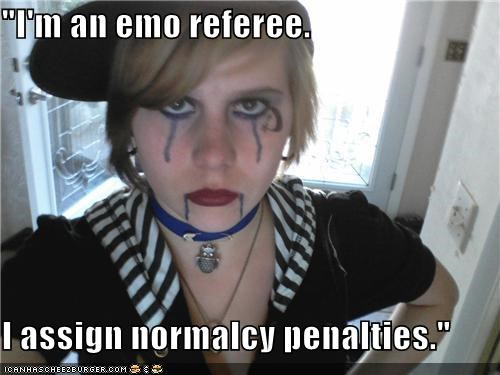 career,emo,normal,referee,weird kid,wtf