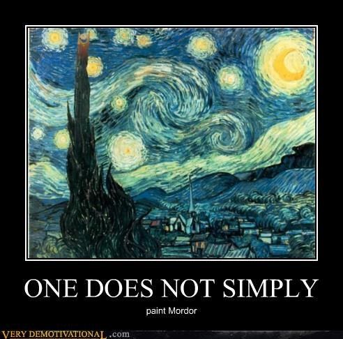 hilarious,mordor,paint,starry night,Van Gogh