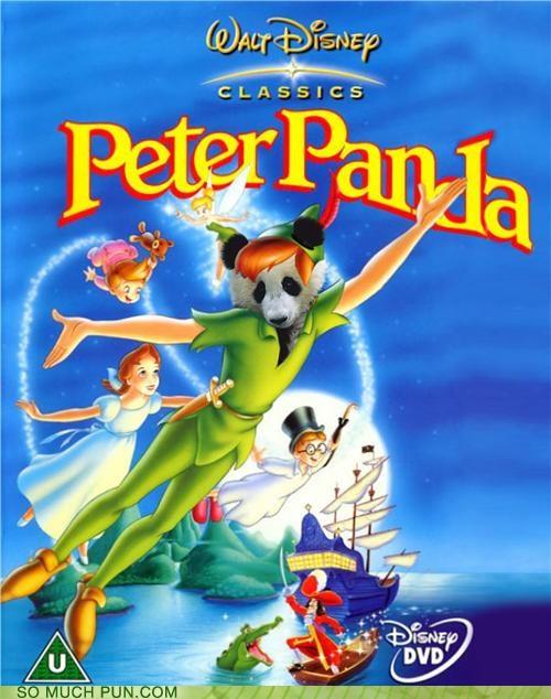 disney,juxtaposition,literalism,Movie,panda,peter pan,shoop,title