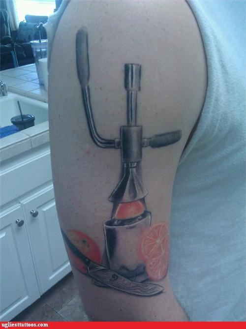 Ugliest Tattoos: Don't Make Me Juice You, Bro