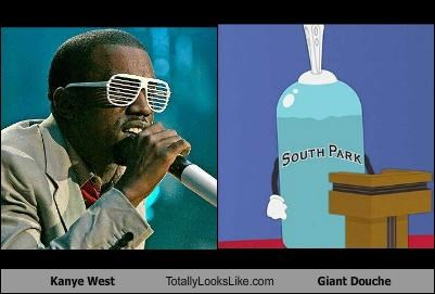 Kanye West Totally Looks Like Giant Douche