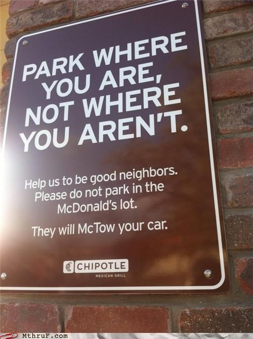 And If Your Super-Sized Ass Parks in the McHandicapped Section, We'll Beat You