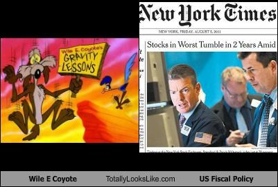Wile E. Coyote Totally Looks Like US Fiscal Policy