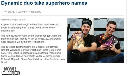 Completely Relevant News: Supername Superchange