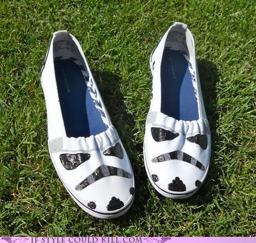 crazy shoes,flats,star wars,stormtrooper