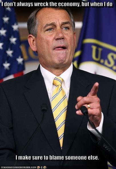 economy,john boehner,political pictures