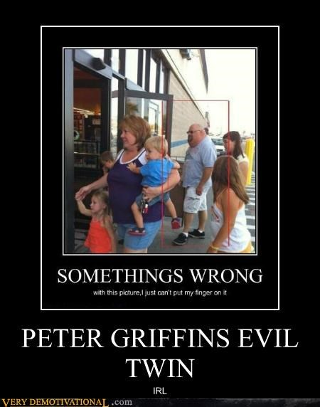 evil twin,hilarious,IRL,Peter Griffin