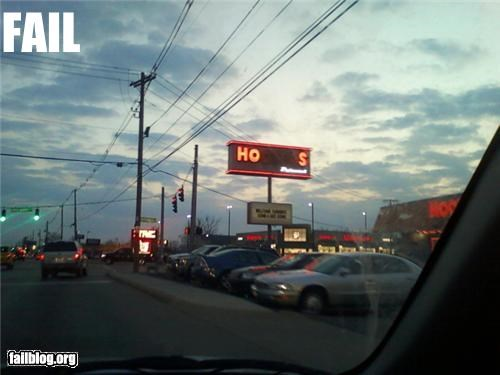 Hooters Sign FAIL