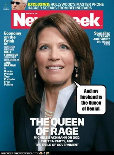 denial,gay,magazines,Marcus Bachman,Michele Bachmann,Newsweek,politicians,Pundit Kitchen,queens,rage