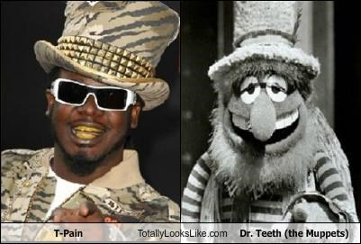 dr-teeth,fancy clothes,gold teeth,Hall of Fame,hat,the muppets,top hat,t pain