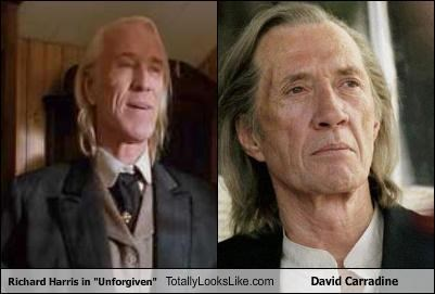 "TLL Classics: Richard Harris in ""Unforgiven"" Totally Looks Like David Carradine"