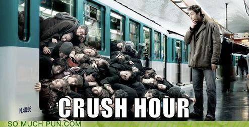 crush,hour,literalism,rush,rush hour,similar sounding