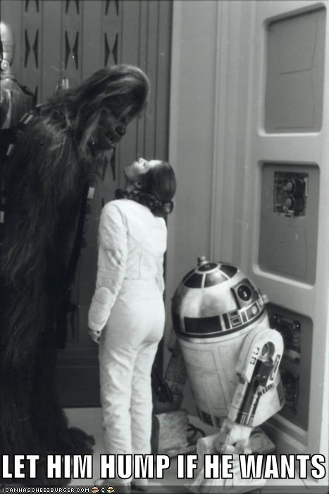 actor,carrie fisher,celeb,chewbacca,funny,Movie,r2d2,sci fi,star wars