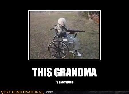 awesome,grandma,gun,Pure Awesome