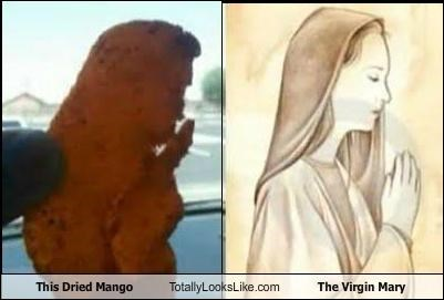 This Dried Mango Totally Looks Like The Virgin Mary