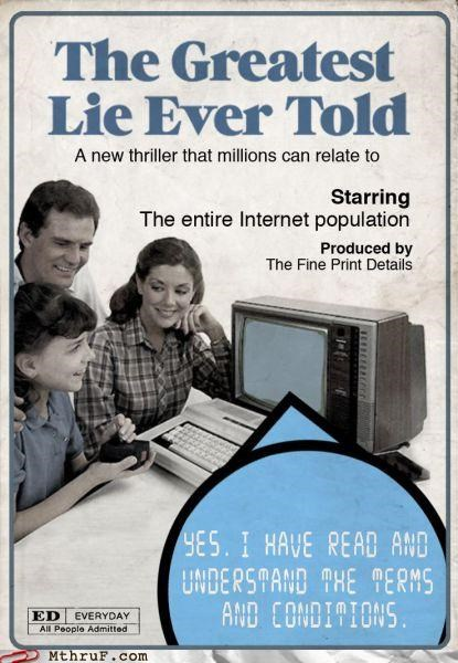 book,lying,terms and conditions