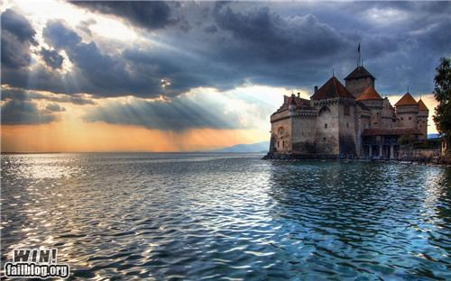 castle,clouds,court,hideaway,lake,photography