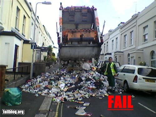 Garbage Truck FAIL