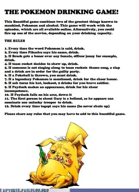drinking game,drunk,pikachu,Pokémon,Team Rocket