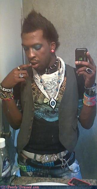 bracelets,collar,peaked,punk,scene