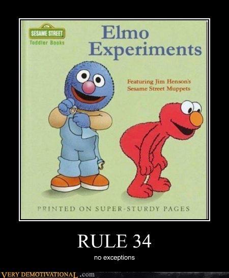 elmo,grover,hilarious,Rule 34,Sesame Street