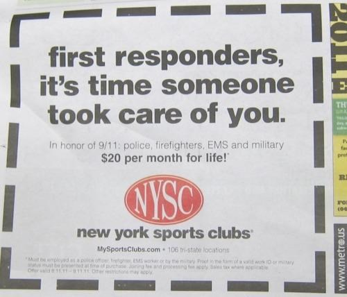 911-themed-promotion,New York Sports Club,Stay Classy