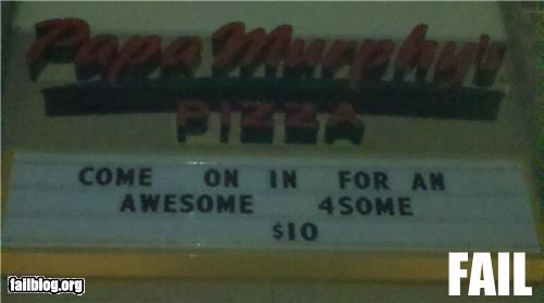 Pizza Name FAIL