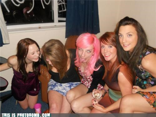 7 days,drinks,girls,Good Times,pink hair,the ring
