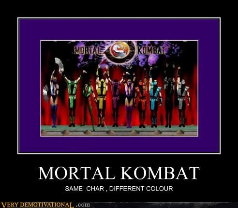 different color,hilarious,Mortal Kombat,ninjas