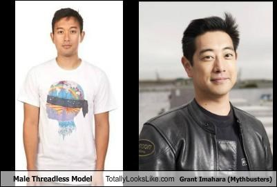 Male Threadless Model Totally Looks Like Grant Imahara (Mythbusters)
