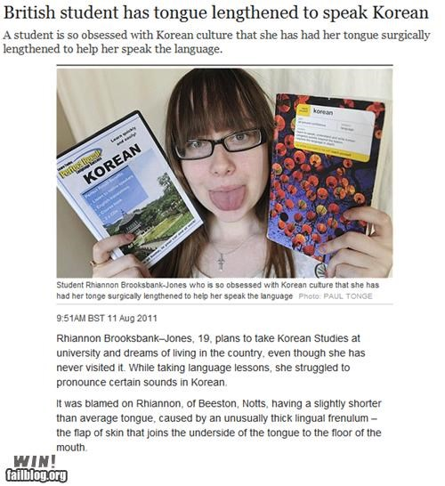 body modification,completely relevant news,dedication,education,foreign language,korea,korean