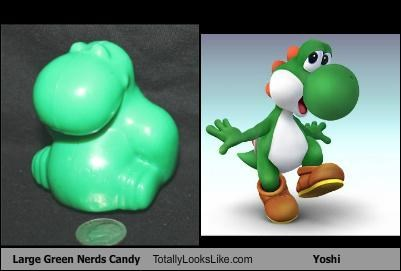 Large Green Nerds Candy Totally Looks Like Yoshi