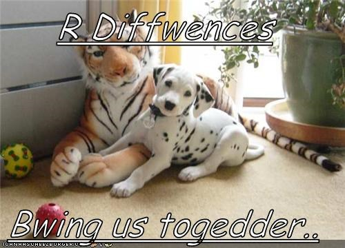 R Diffwences  Bwing us togedder..