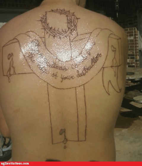 christian tattoo,cross,religious