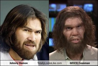 Johnny Damon Totally Looks Like GEICO Caveman