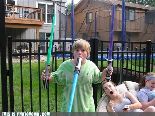 back yard,Kids are Creepers Too,light saber,padawan,star wars