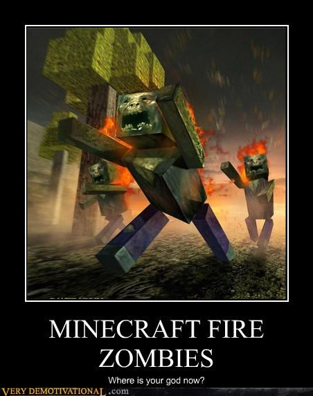 MINECRAFT FIRE ZOMBIES