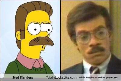 Ned Flanders Totally Looks Like Eddie Murphy as a white guy on SNL