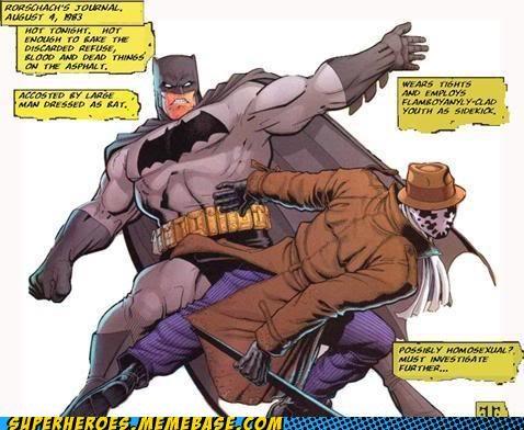 batman,Battle,comics,rorschach,Straight off the Page
